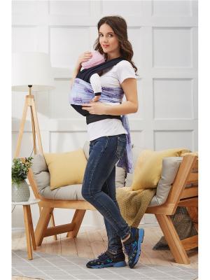 Переноска-слинг с поясом и длинными лямками для детей весом до 16 кг возрастом 1,5 года Nothing but Love. Цвет: темно-синий, сиреневый, фиолетовый