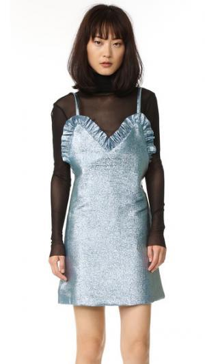 Платье-комбинация Jacquemus. Цвет: золотой