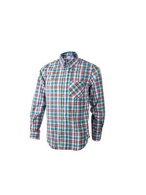 Рубашка Dappe. Цвет: зеленый, красный
