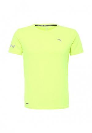 Футболка спортивная Anta. Цвет: желтый