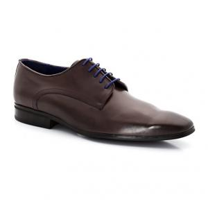 Ботинки-дерби из кожи со шнуровкой AZZARO. Цвет: серо-каштановый