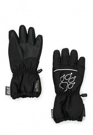 Перчатки Jack Wolfskin. Цвет: черный