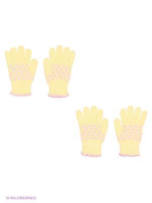 Перчатки, 2 пары FOMAS. Цвет: желтый, бледно-розовый