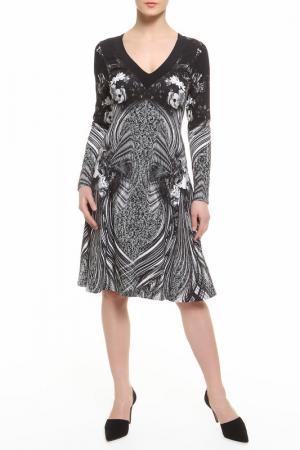 Платье CLASS ROBERTO CAVALLI. Цвет: черно-серый