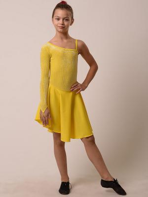 Купальник EMDI. Цвет: желтый