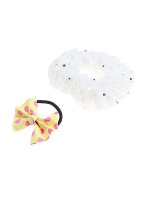 Комплект резинок для волос Gusachi. Цвет: белый, желтый, розовый, черный