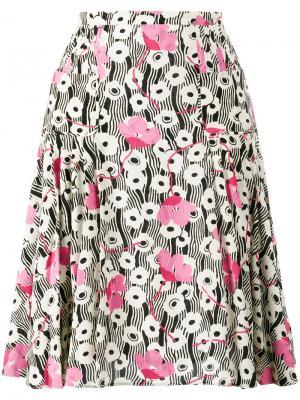 Плиссированная юбка Valentino. Цвет: многоцветный