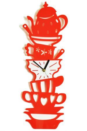Часы Сервиз W-ERA. Цвет: красный, белый