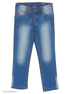Брюки (джинсы) Button Blue. Цвет: голубой