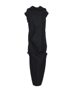 Длинное платье DRKSHDW by RICK OWENS. Цвет: черный