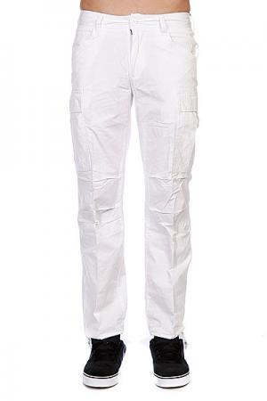 Штаны прямые  Combat Oldy Cargo Pants White Urban Classics. Цвет: белый