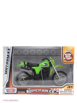 Коллекционная модель мотоцикла Kawasaki KDX250 Motormax. Цвет: зеленый