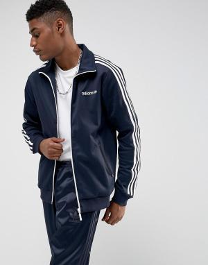 Adidas Originals Темно-синяя спортивная куртка Beckenbauer BR2290. Цвет: темно-синий