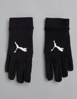 Puma Черные перчатки Football FIELD Player 04114601. Цвет: черный