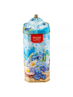 Чай Hilltop Цейлонский бриз 125г., высокая 8-гран банка Весенняя акварель. Цвет: черный