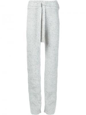 Спортивные брюки с поясом Ryan Roche. Цвет: серый