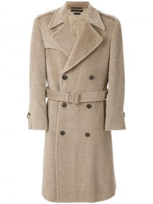 Двубортное пальто с поясом Marc Jacobs. Цвет: коричневый