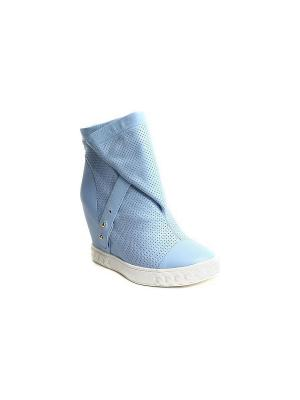 Сникеры MILANA. Цвет: голубой