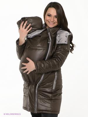 Куртка I love mum. Цвет: коричневый, серый