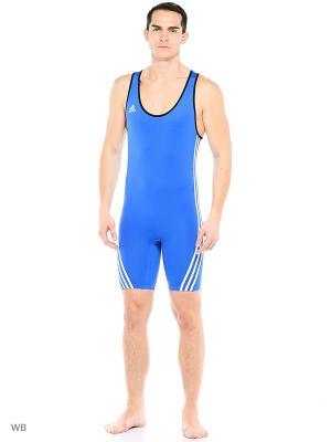 Комбинезон для тяжелой атлетики Adidas. Цвет: голубой