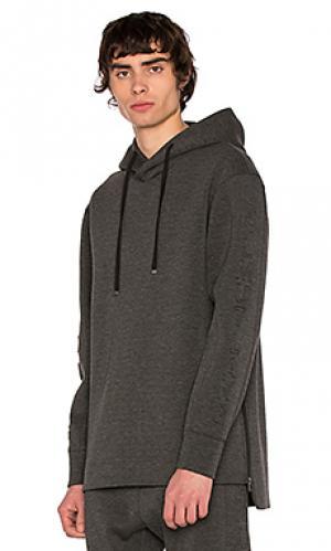 3d logo hoodie Helmut Lang. Цвет: серый