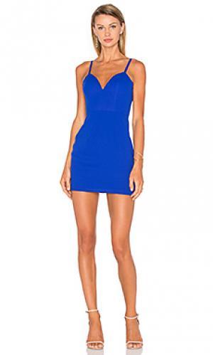 Платье not your babe NBD. Цвет: синий