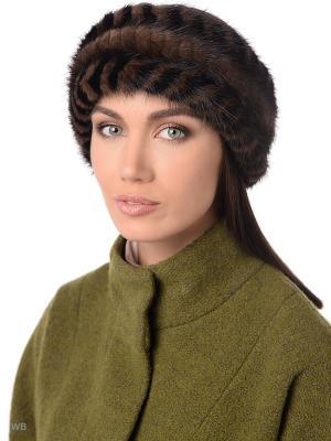Повязка на голову Ваша Шляпка. Цвет: светло-коричневый, черный
