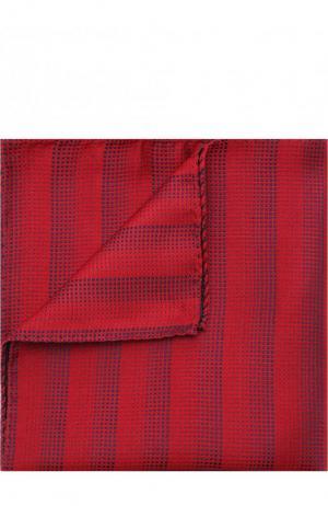 Шелковый платок Giorgio Armani. Цвет: бордовый