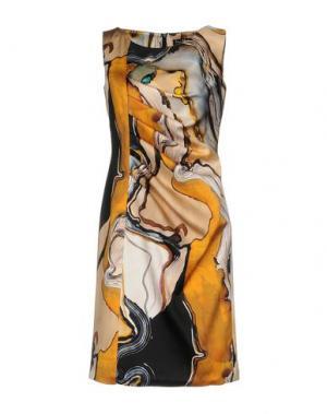 Короткое платье IVAN MONTESI. Цвет: песочный