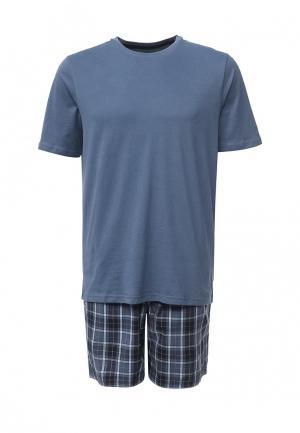 Пижама Marks & Spencer. Цвет: синий