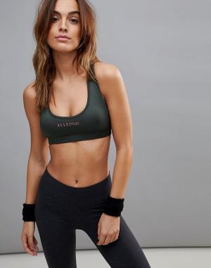 Elle Sport Спортивный бюстгальтер с контрастной отделкой s. Цвет: черный