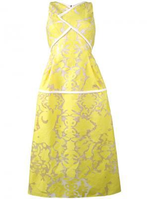 Платье без рукавов Letwell Roland Mouret. Цвет: жёлтый и оранжевый
