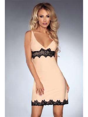 Сорочка LivCo Corsetti Fashion. Цвет: персиковый