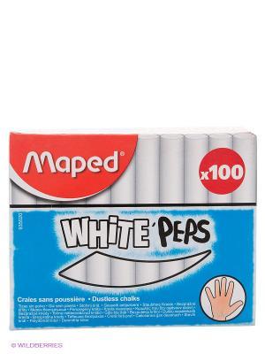 Мел белый, 100 шт. Maped. Цвет: белый