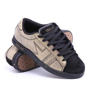 Кеды кроссовки низкие  Logan Gold/Black Scratchatch Dekline. Цвет: желтый