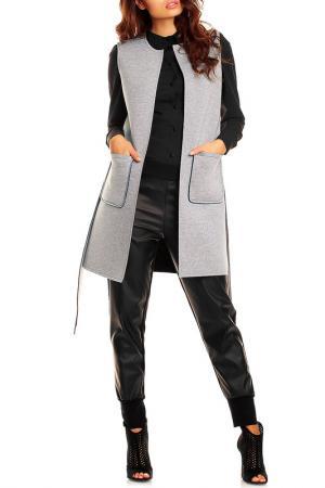 Пальто NOMMO. Цвет: серый