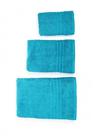 Комплект полотенец 3 шт. Arloni. Цвет: бирюзовый