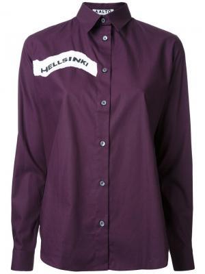 Рубашка с принтом Hellsinki Aalto. Цвет: розовый и фиолетовый