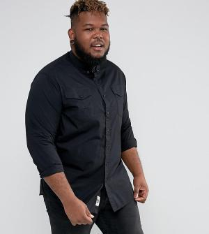 Duke Черная рубашка с карманами PLUS. Цвет: черный