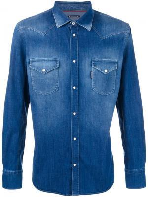 Джинсовая рубашка Jacob Cohen. Цвет: синий