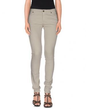 Джинсовые брюки SUPERFINE. Цвет: светло-серый