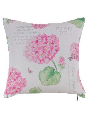 Декоративная наволочка Розовая гортензия Apolena. Цвет: розовый