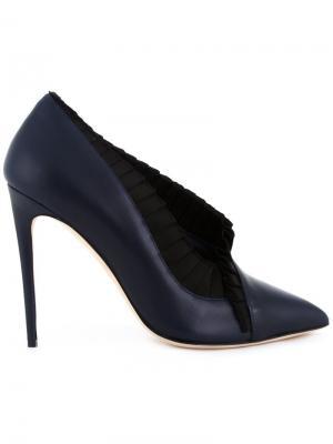 Туфли с атласной окантовкой Olgana. Цвет: синий
