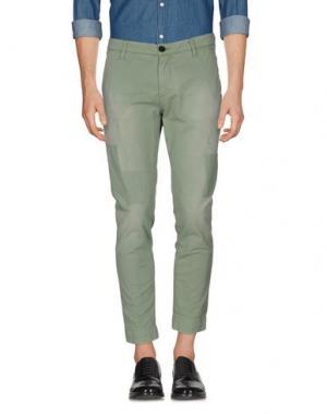 Повседневные брюки AGLINI. Цвет: светло-зеленый
