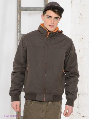 Куртка Think Pink. Цвет: коричневый