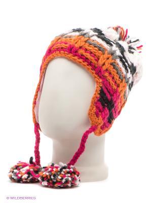Шапка Maxval. Цвет: бледно-розовый, оранжевый, белый, черный, серый