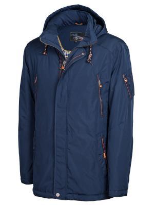 Куртка TAIS. Цвет: темно-синий,оранжевый
