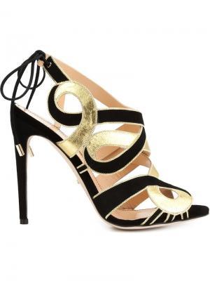 Босоножки на шнуровке Jerome Rousseau. Цвет: чёрный