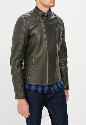 Куртка кожаная Pepe Jeans. Цвет: серый