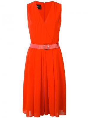 Платье с запахом спереди Akris. Цвет: красный